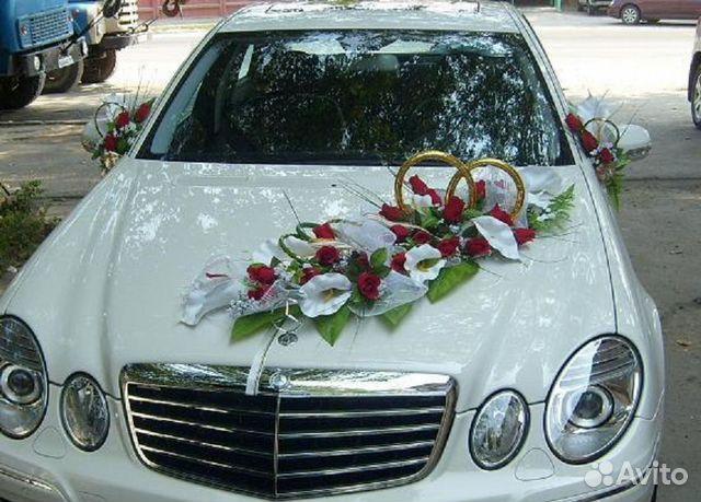 Украшения для авто на свадьбу фото