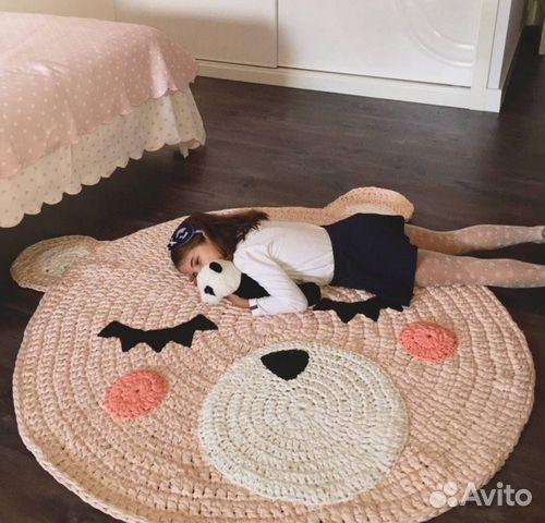 Как вязать детский коврик