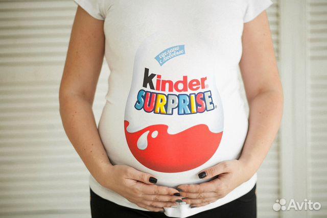 Футболка с киндером для беременных