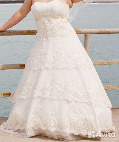 Объявление о продаже Свадебное платье р48-54 в Краснодарском крае на Avito.  Шикарное свадебное платье!!!!размер...