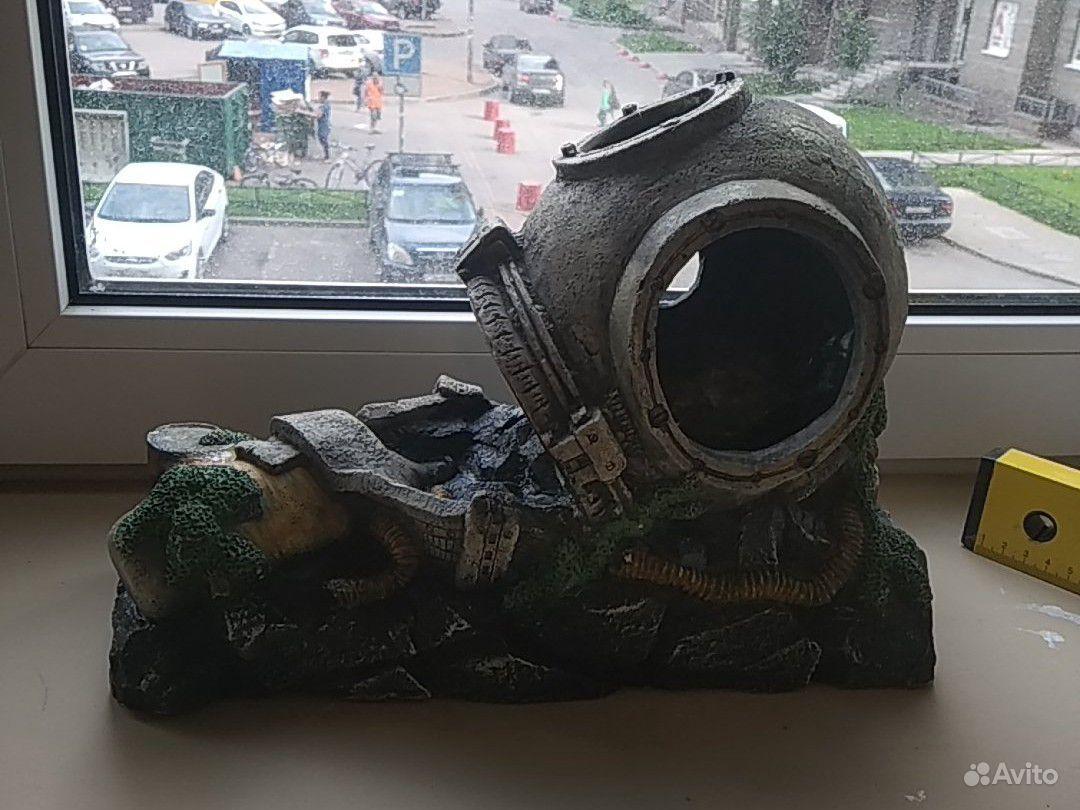 Декорация аквариум. водолазный шлем купить на Зозу.ру - фотография № 1