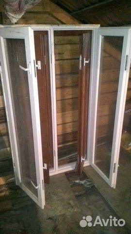 Деревянное окно с дверью, двухслойное, балконное купить в ре.