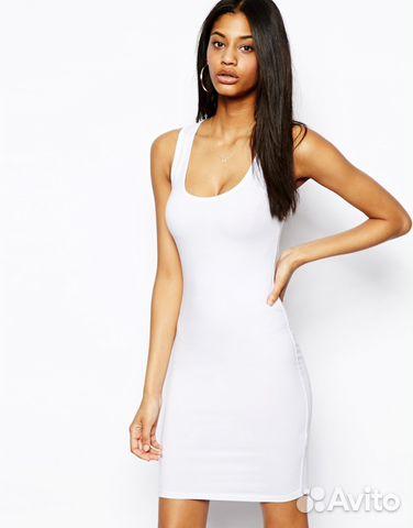 b1c2b45e148b341 Облегающее платье-майка ASOS (черное или белое) купить в ...