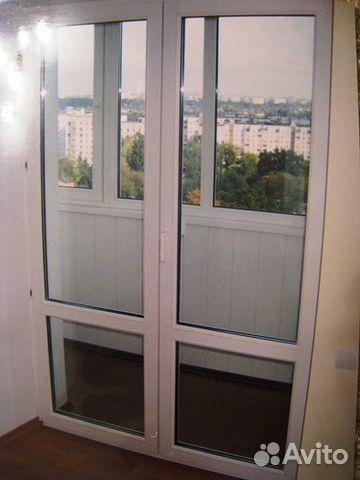 Балконный блок дверь раздвижная..