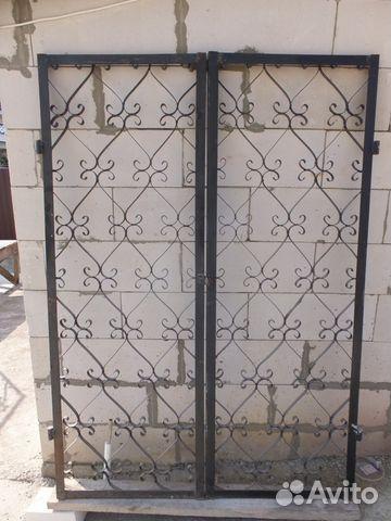 дверь решетчатая металлическая двустворчатая