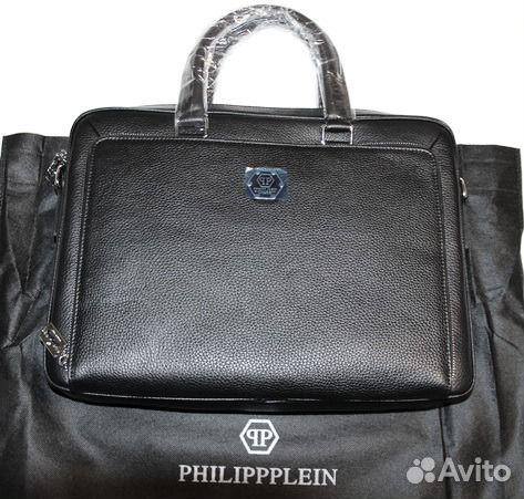 5aba126beb1a Мужская кожаная сумка портфель PhilippPlein lux купить в Москве на ...