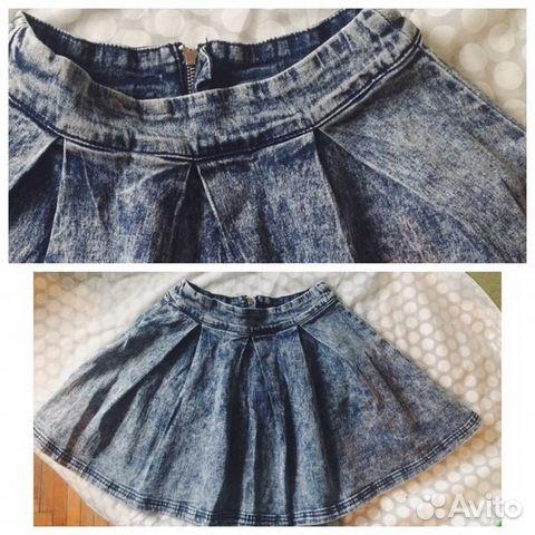 06fc2b126ff Новая джинсовая юбка-солнце   Festima.Ru - Мониторинг объявлений