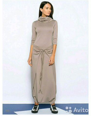 aee8f965471 Платье Colambetta в пол длинное темно-зеленое