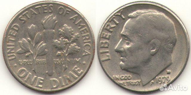 10 центов Америка 1977 89086308463 купить 1