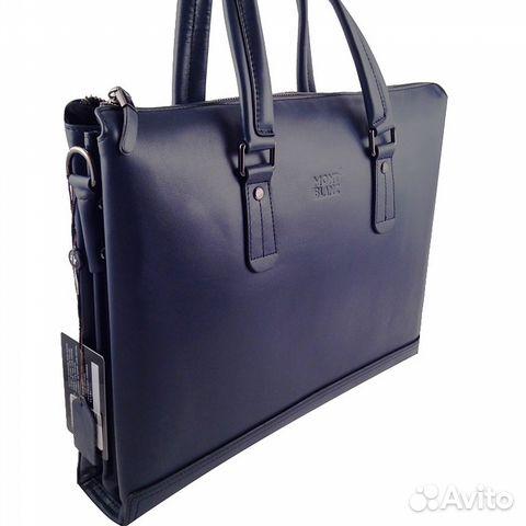 daff047c669b Мужская сумка портфель кожа Mont Blanc арт.5076-3 купить в Москве на ...