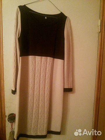 платье нарядное вязаное трикотажное полотно 46р купить в санкт