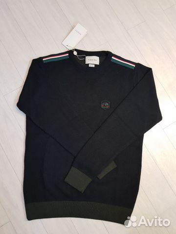 Черный мужской свитер, кофта, свитшот gucci   Festima.Ru ... a7f98ed40ca