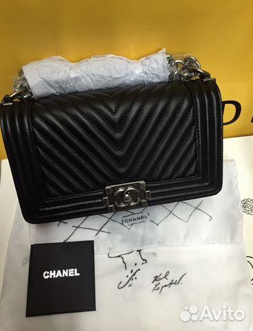 546464420bda Сумка Chanel Boy Chevron Черные Шанель Бой купить в Москве на Avito ...
