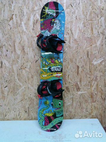 8ecb6ebfd486 Сноуборд комплект детский доска+крепы+ботинки 120   Festima.Ru ...