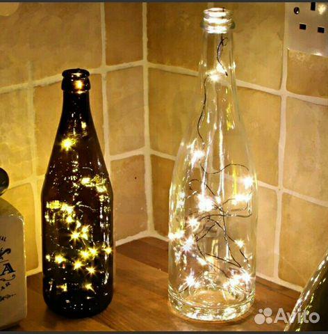 Гирлянда в бутылку