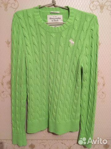 Abercrombiefitch вязаный свитер с вышивкой Xl Xxl купить в москве