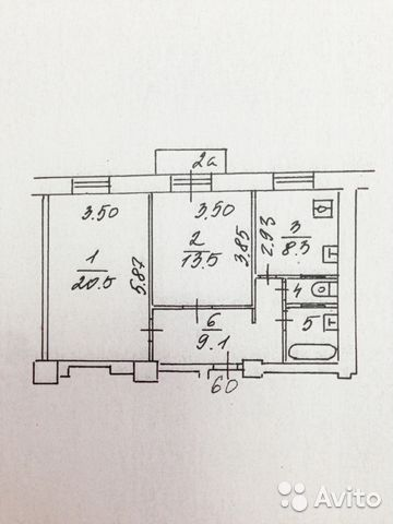 Продается двухкомнатная квартира за 13 000 000 рублей. Кржижановского ул., д.8, к.2.
