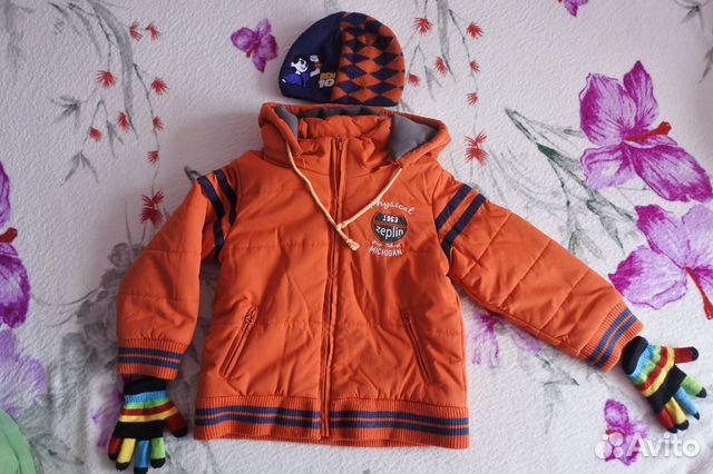 Куртка осенняя Zeplin р. 110-116 + Аксессуары  89616848492 купить 1