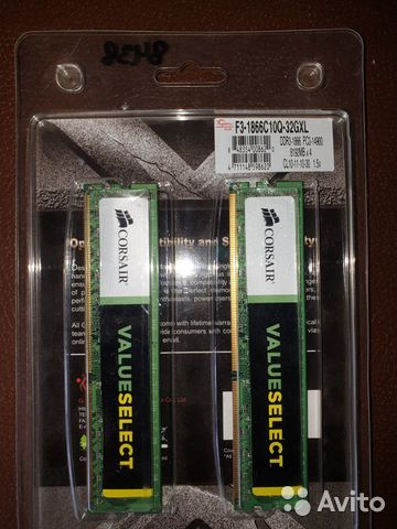 Corsair ValueSelect DDR 3 1866 16 gb— фотография №1