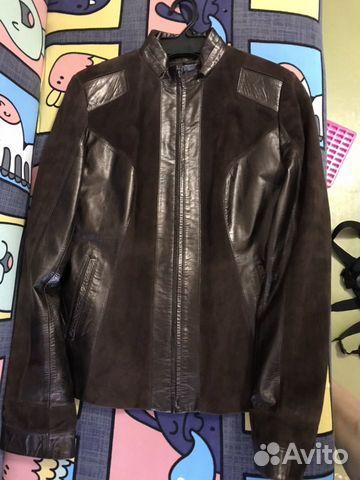 Куртка женская кожаная коричневая размер М  89156546204 купить 1