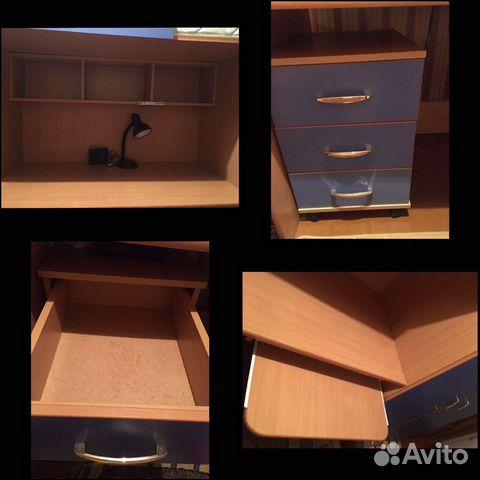 Кровать-чердак со шкафом и столом