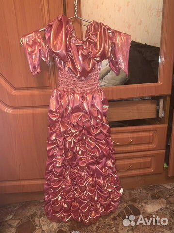 Новогоднее красивое платье для юной принцессы 5-7