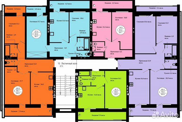 1-к квартира, 39.2 м², 5/5 эт. 89027352510 купить 2