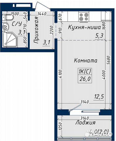 1-к квартира, 26 м², 7/18 эт.  89619858358 купить 5