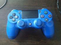 Джойстик ps4 синий