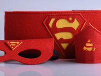 Супергеройские костюмы маска, пояс и нарукавники