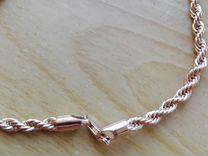 Солидная позолоченная цепь 60 см
