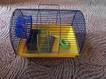 Клетка для хомяков, с домиком и колесом