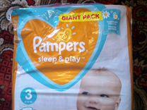 Подгузники Pampers Sleep & Play Размер 3, 6-10кг