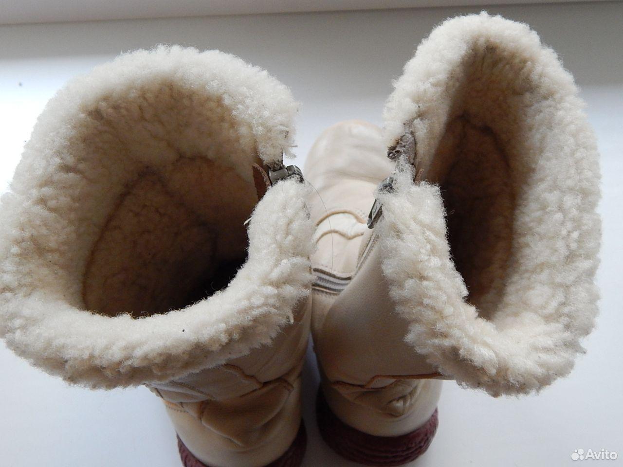 Сапоги кожаные, теплые  89614983783 купить 5
