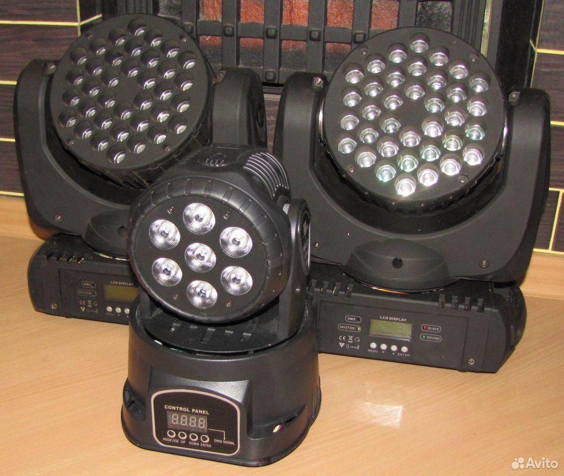 Проф светомузыка 3 вращающиеся головы LED микрофон  89128899109 купить 3