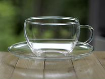 Чайный сервиз (Пять кружек и блюдец. Стекло)
