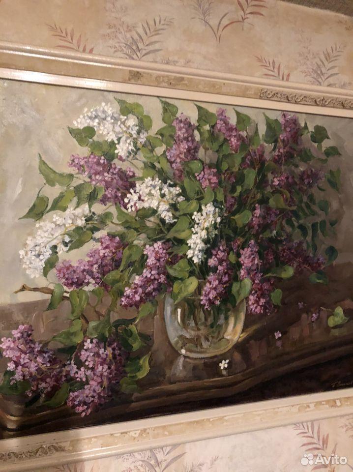 Картина маслом Сирень,Васильев,30000