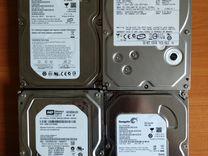 Различные жёсткие диски SATA и PATA