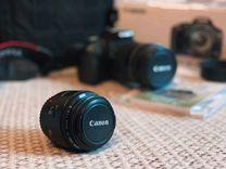 Canon Eos 500d с 2 объективами 18-135 и 50