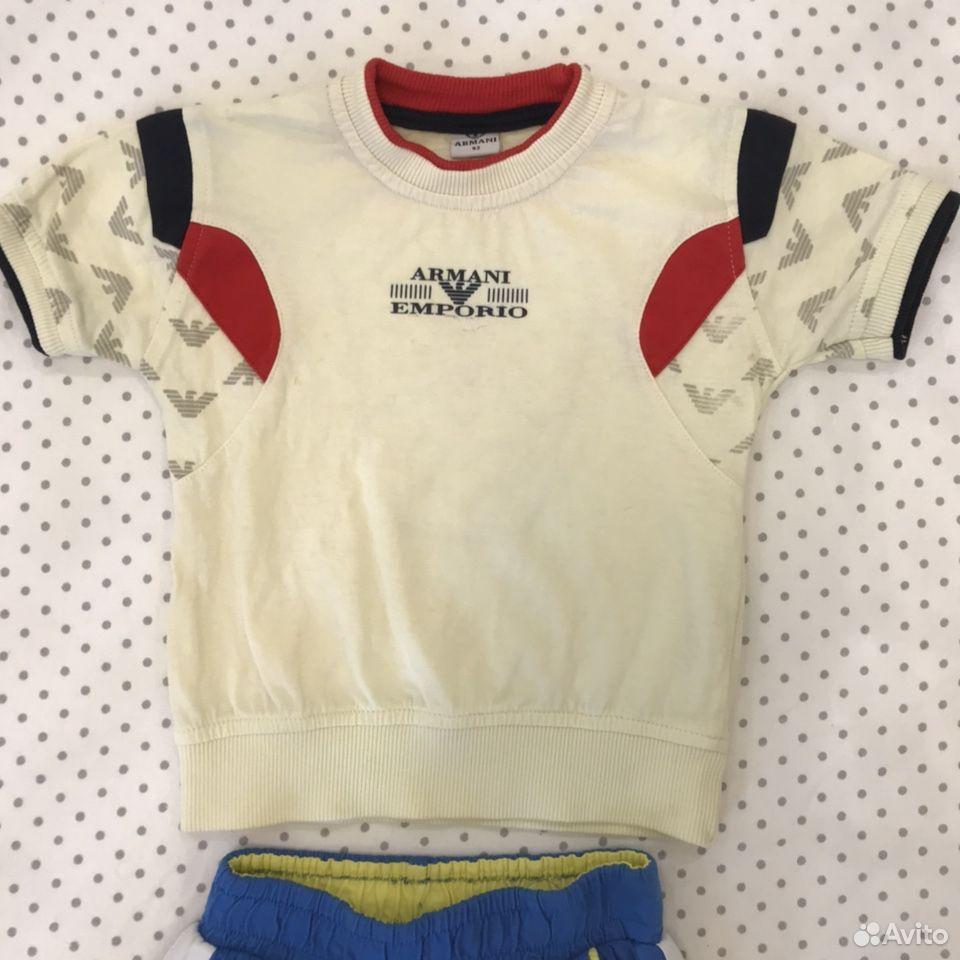 Футболка и шорты armani orig. 92  89628553030 купить 2