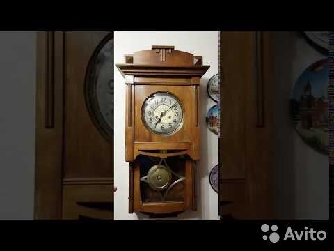 Часы настенные Gustav Becker, старинные. 1912 г купить 1