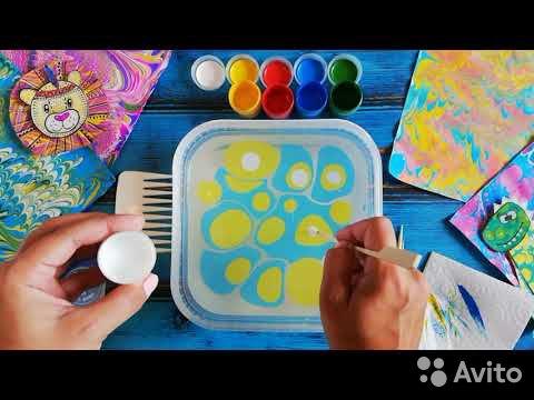 84942303606  Набор для рисования на воде Unid Эбру Индиго